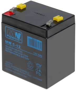 AKUMULATOR 12V/5AH-MW MW POWER