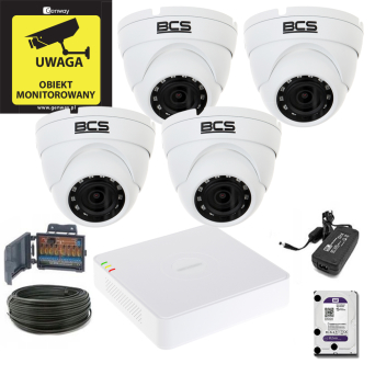 Zestaw Hikvision 4 x DS-2CE56D0T-IRM +  Rejestrator DS-7104HGHI-F1