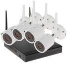 ZESTAW DO MONITORINGU APTI-KIT-WIFI-21C2 Wi-Fi, 4 KANAŁY - 1080p