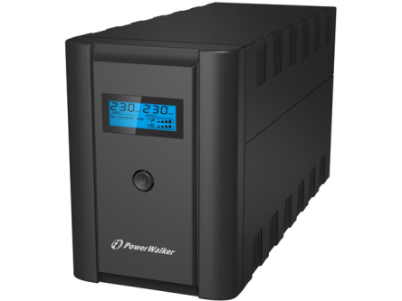 UPS POWERWALKER LINE-INTERACTIVE 1200VA, 6X IEC OUT, RJ11/RJ45 IN/OUT, USB, LCD