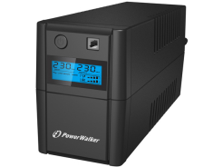 UPS POWER WALKER LINE-INTERACTIVE 650VA 2X 230V PL OUT, RJ11 IN/OUT, USB, LCD,